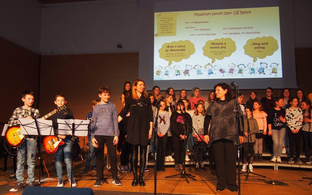 """Dobrodelni koncert pevskih zborov OŠ Renče 2019, """"S pesmijo in plesom v praznični dan!"""""""